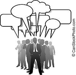 商業界人士, 通訊, 談話, 演說, 氣泡