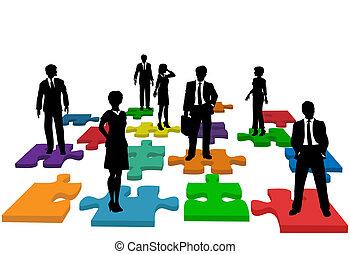 商業界人士, 難題, 人類, 隊, 資源