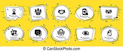商標, 大使, signs., 人們, t恤衫, 教育, 圖象, 矢量, set., 圖象, included, 握住