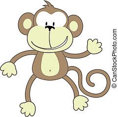 問候, 猴子