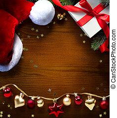 問候, 聖誕節, 背景, 卡片, 旗幟, 或者, 假期, 藝術