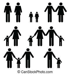 單個, 家庭, 二, 父母