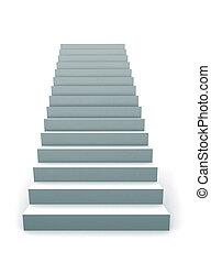 單個, 樓梯, 3d