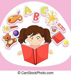 單獨, 女孩讀物, 書