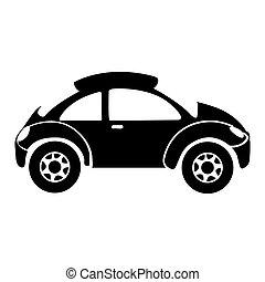 單色, 運動, 黑色半面畫像, 汽車