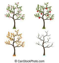四個季節, 藝術, 樹