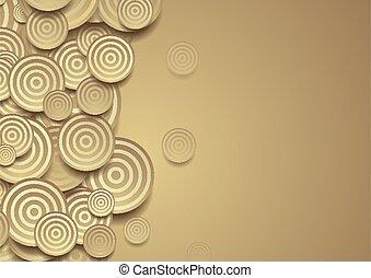 圈子, 幾何學, 戒指, 背景, 布朗, 摘要