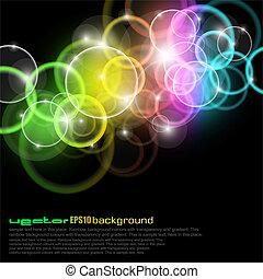 圈子, 彩虹顏色, 發光