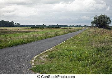 國家道路, 空, 多雲天