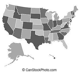 國家, 地圖, 團結