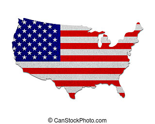 國家, 地圖, 旗, 團結, 紙