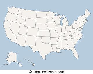 國家, 地圖, 美國, 團結, 矢量