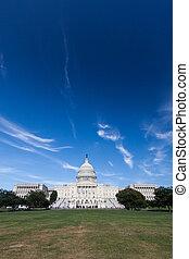 國家, 建築物, 團結, 州議會大廈, dc
