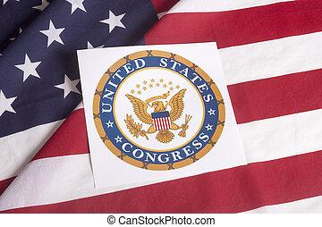 國家, 旗, 團結, 州議會大廈, 美國