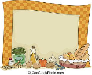 國家, 風格, 板, 背景, 廚房