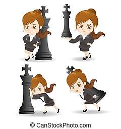 國際象棋, 事務, 推, 婦女
