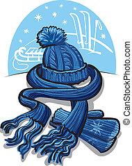 圍巾, 羊毛, 衣服, 冬天, 手套