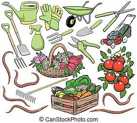園藝, 藝術, 夾子