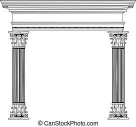圓柱, 希臘語, 拱