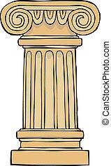 圓柱, 柱腳
