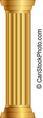 圓柱, 金