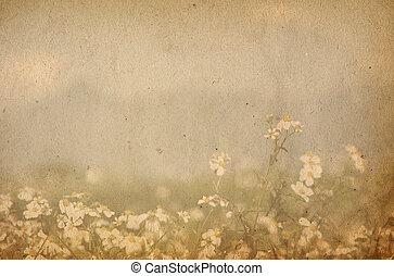 圖像, 或者, 正文, 紙, 質地, 空間, 老, 完美, 背景, -, 花