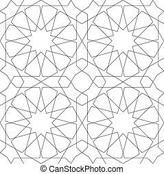 圖案, 幾何學, 白色, seamless