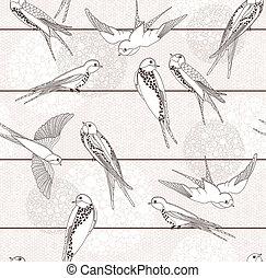 圖案, 摘要, seamless, 鳥