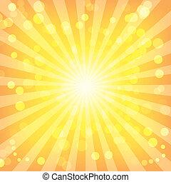 圖案, 摘要, sunburst, bokeh, 光