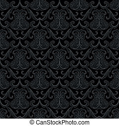 圖案, 牆紙, 黑色, seamless