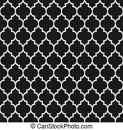 圖案, 黑色, seamless, 伊斯蘭教, 白色