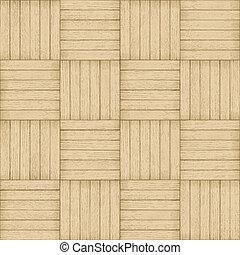 圖案, -, seamless, 木頭, 背景, 席紡地面
