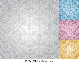 圖案, seamless, (vector), 緞子