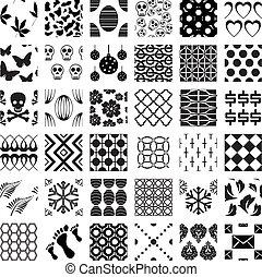 圖樣, 幾何學, seamless, 集合, 單色