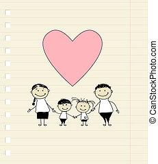 圖畫, 愉快, 愛, 家庭, 略述