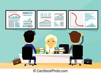 圖表, 人們, 財政, 趨勢, 商人, 事務, 金融, 下來, 危機, 計算机, 辦公室, 秋天, 消極, 書桌