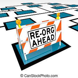 圖表, 在前, re-org, org, 路障, 詞