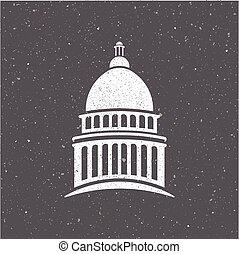 圖表, 州議會大廈, 美國, 葡萄酒, 矢量, 設計, 標識語, style.