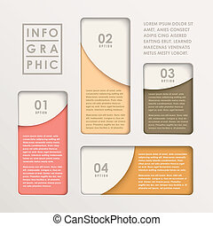 圖表, 摘要, 紙, 現代, infographic, 酒吧