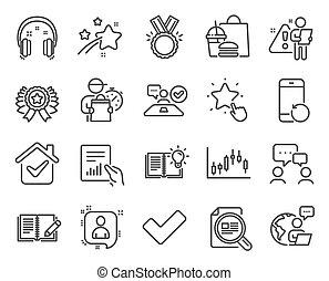 圖表, 文章, set., 人們, candlestick, 聊天, included, 圖象, 檢查, 矢量, 教育, signs., 圖象