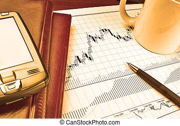圖表, pda, 股票