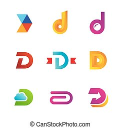 圖象, 元素, 樣板, 標識語, 集合, 信, 設計, d