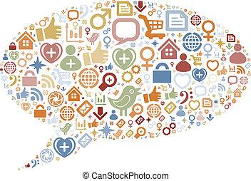 圖象, 媒介, 結構, 形狀, 社會, 氣泡, 談話