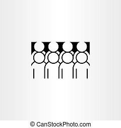 圖象, 矢量, 組, clipart, 人們