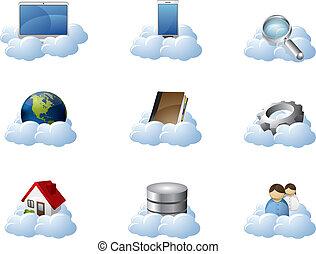圖象, 矢量, 雲, 計算