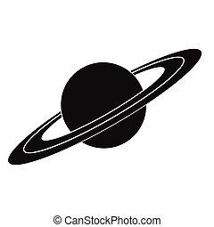圖象, 簡單, 土星, 黑色