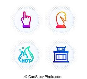 圖象, 銷售, 銷售, 按一下, 熱, 戰略, 徵候。, set., 手, 商店, 矢量