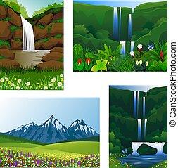 圖象, 集合, 框架, 美麗, 風景