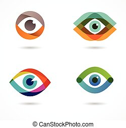 圖象, 集合, 鮮艷, 眼睛