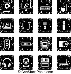 圖象, 風格, 電腦, grunge, 集合